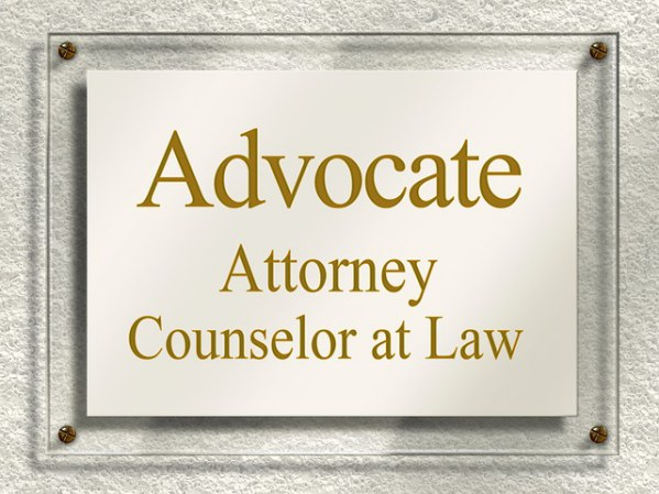 Lawyer Door Sign