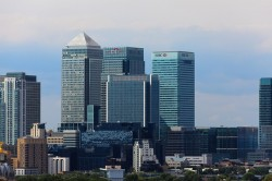 Canary Wharf London Business District UK