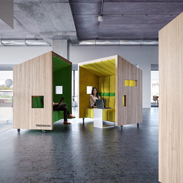 Work Pods Designed By Dymitr Malcew. Photo by Designmilk. License: CC BY-SA 2.0.